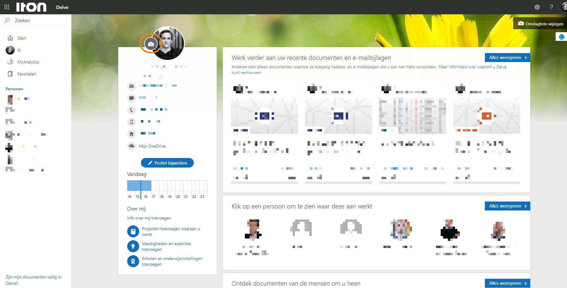 Aanpassen profielfoto SharePoint